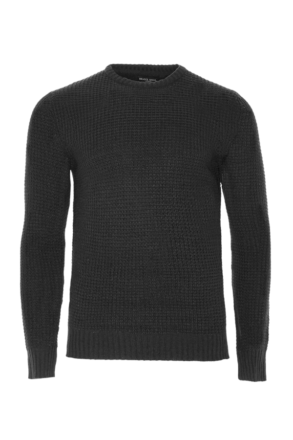 Knitwear - Lightweight Fisherman Jumper Black
