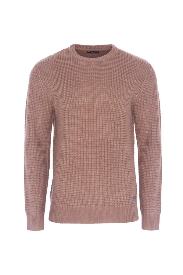 Knitwear - Lightweight Fisherman Jumper Dusty Pink