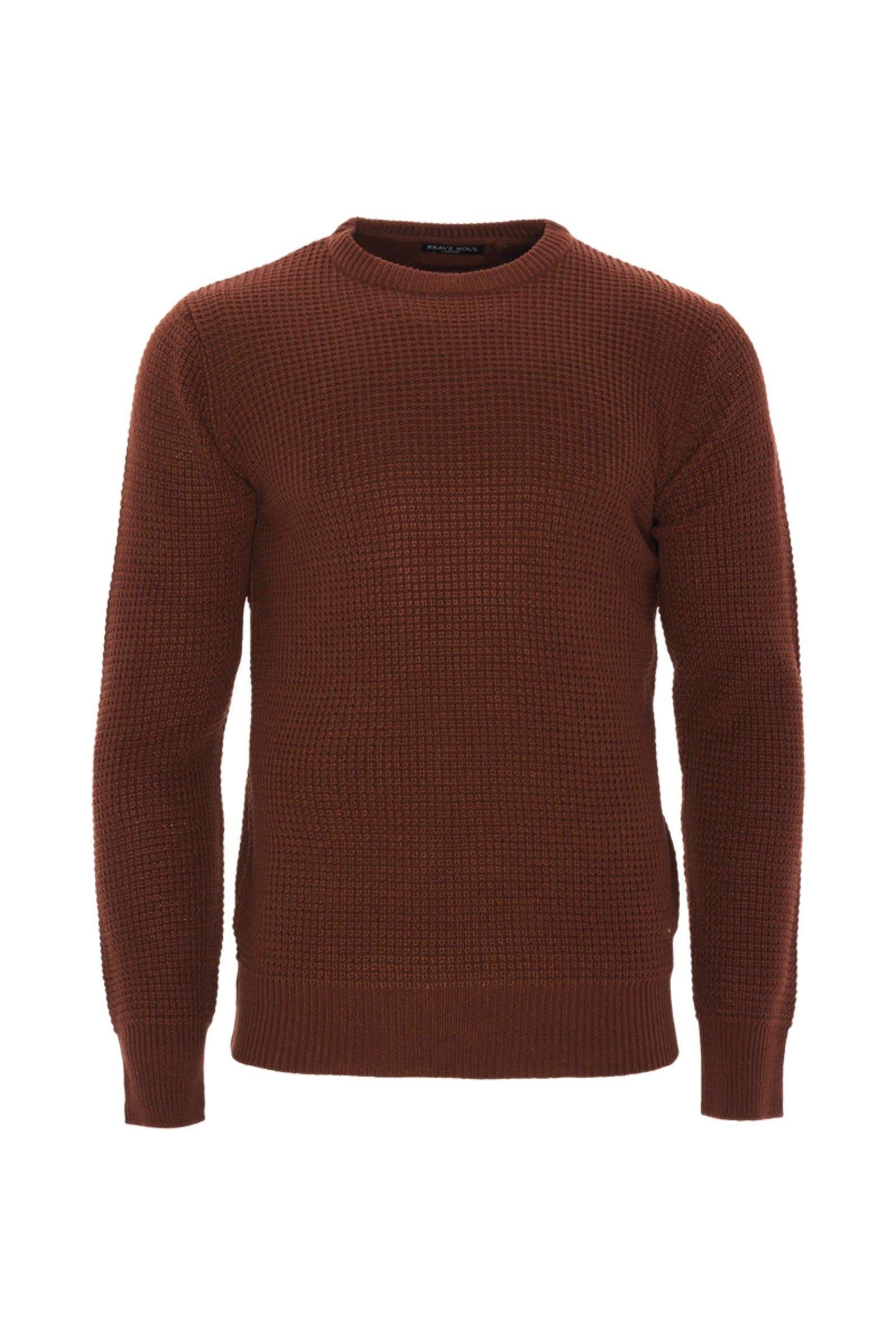 Knitwear - Lightweight Fisherman Jumper Rust