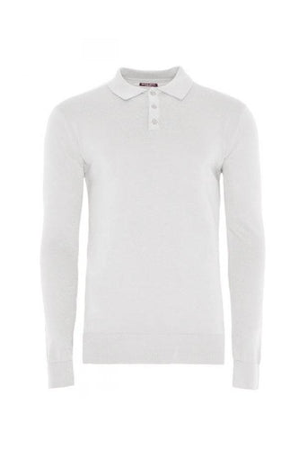 Knitwear - Lightweight Knitted Polo Long Sleeve Grey