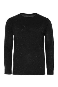 Knitwear - Lightweight Longline Raw Edge Jumper Charcoal