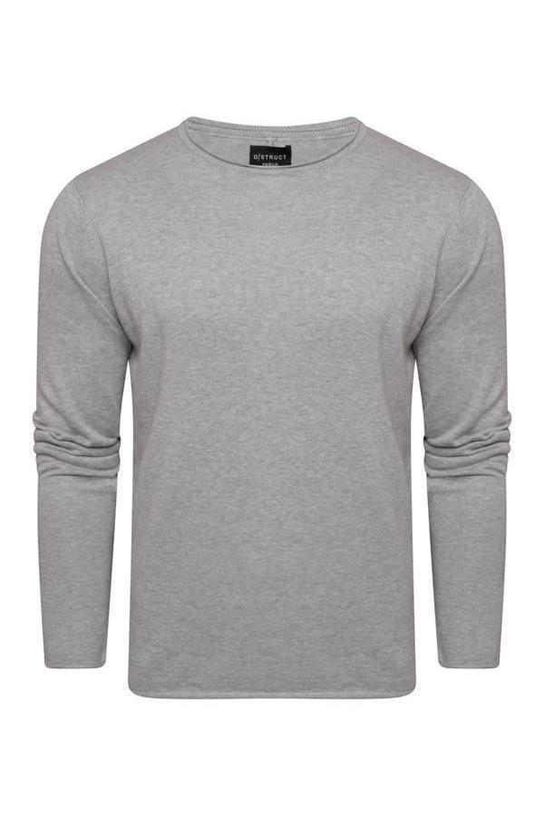 Knitwear - Lightweight Raw Edge Jumper Grey