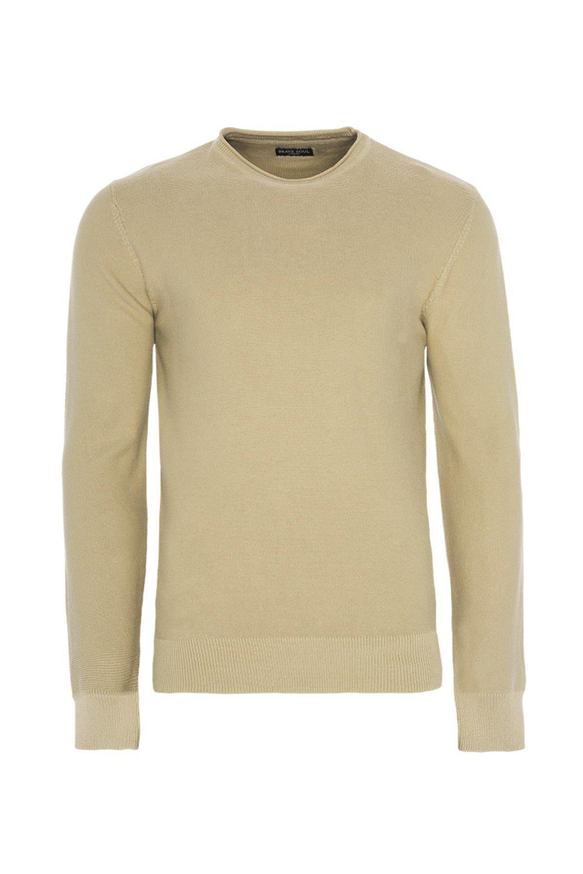 Knitwear - Lightweight Raw Edge Jumper Sand