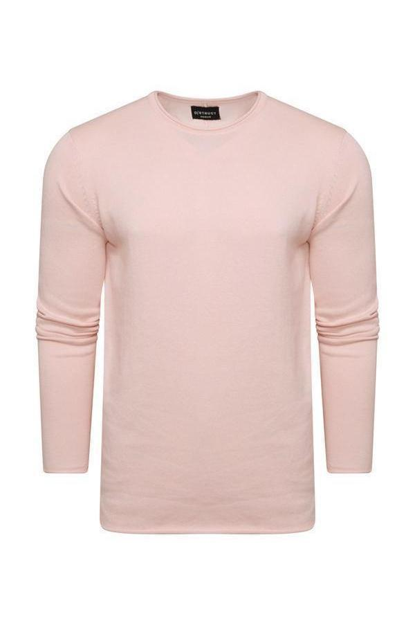 Knitwear - Lightweight Raw Edge Jumper Summer Pink