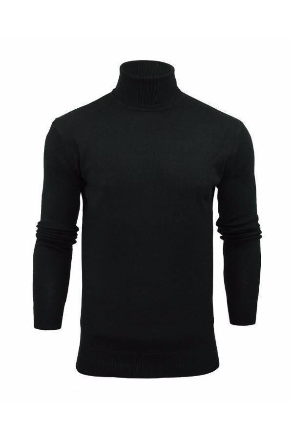 Knitwear - Lightweight Roll Neck Knit Black