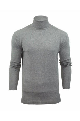 Knitwear - Lightweight Roll Neck Knit Grey