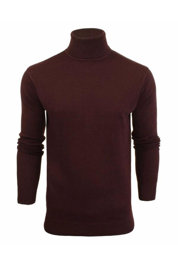 Knitwear - Lightweight Roll Neck Knit Plum