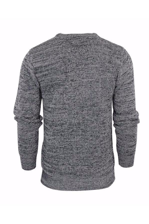 Knitwear - Lightweight Twist Knit Jumper Black Marl