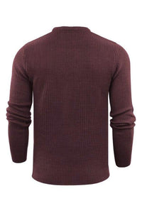 Knitwear - Mediumweight Fisherman Jumper Plum