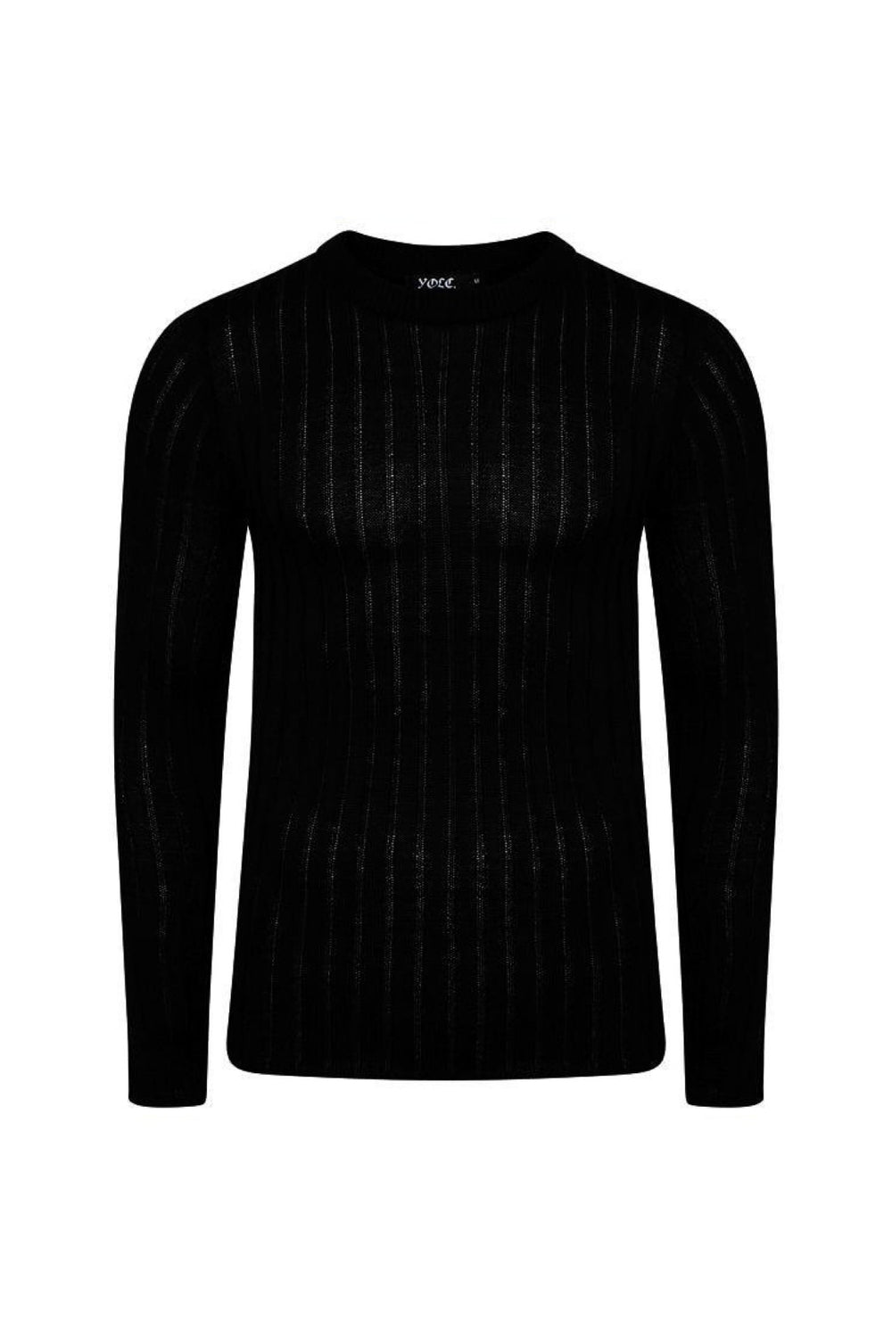 Knitwear - Muscle Fit Jumper Black