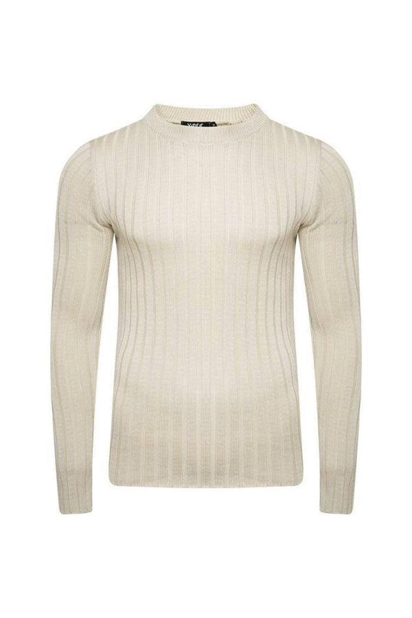 Knitwear - Muscle Fit Jumper Sand