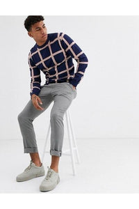 Knitwear - Spring Grid Knit Navy