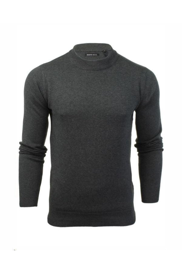 Knitwear - Turtle Lightweight Knit Charcoal