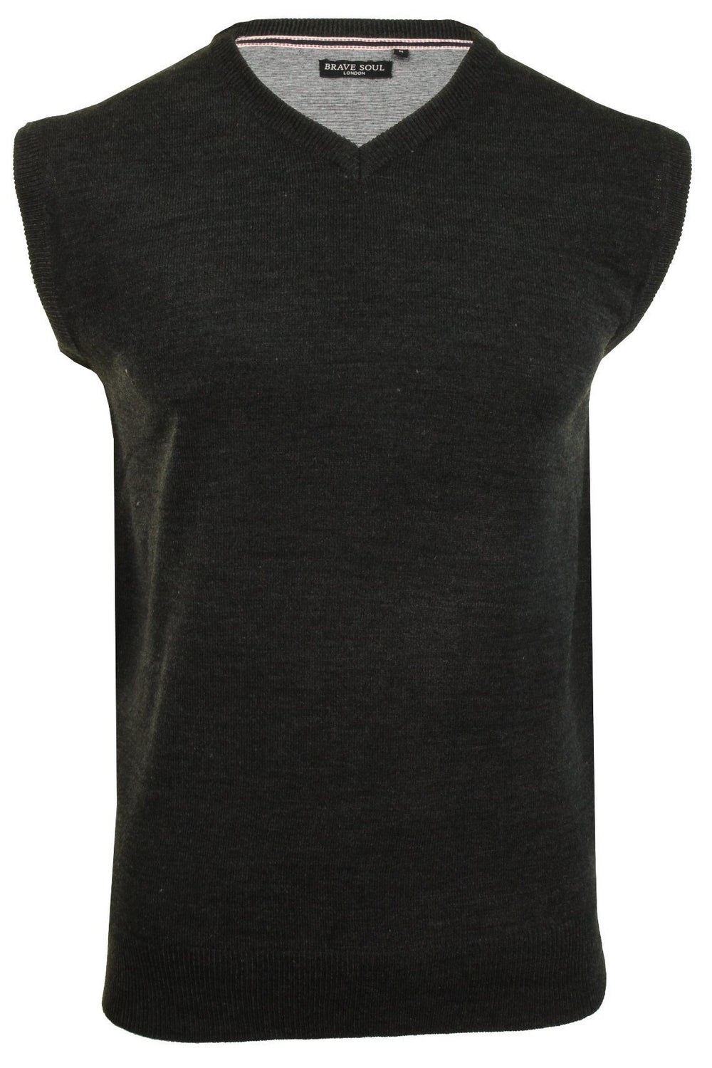 Knitwear - V Neck Knitted Tank Top Charcoal