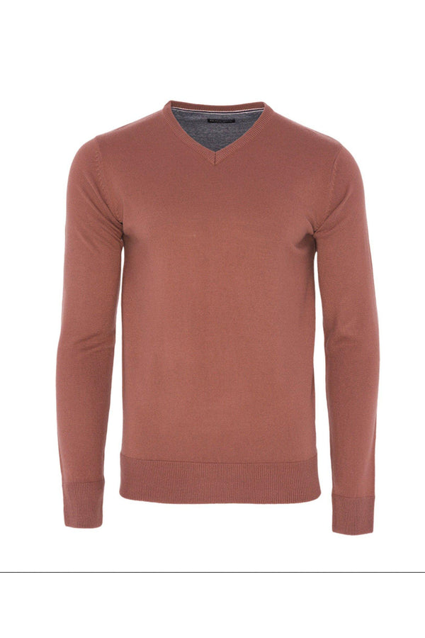 Knitwear - V Neck Lightweight Knit Dusty Pink