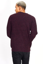 Load image into Gallery viewer, Twist Knit Knit Plum Marl