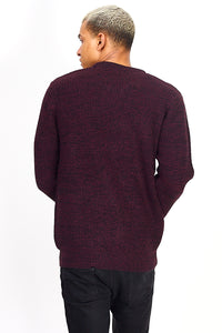 Twist Knit Knit Plum Marl