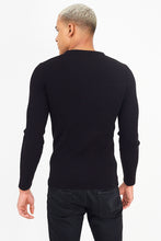 Load image into Gallery viewer, Muscle Fit Knit Black