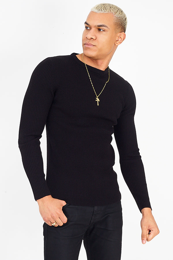 Muscle Fit Knit Black