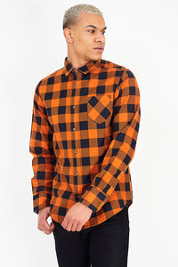 Check Flannel Shirt Rust