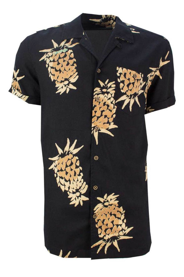 Pineapple Holiday Shirt Black
