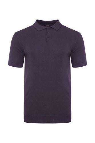 Polos - Lightweight Knitted Polo Short Sleeve Plum
