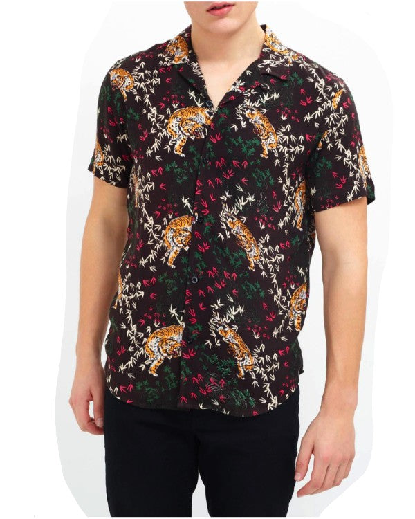 Printed Tiger Silky Shirt
