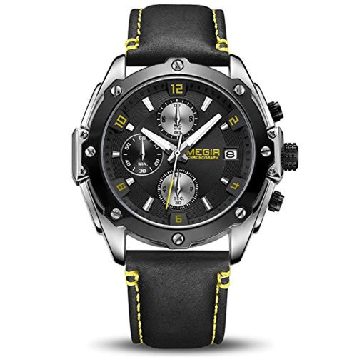 Racing Watch Black Yellow