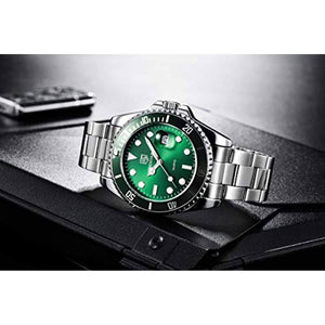 Seamaster Watch Green Steel