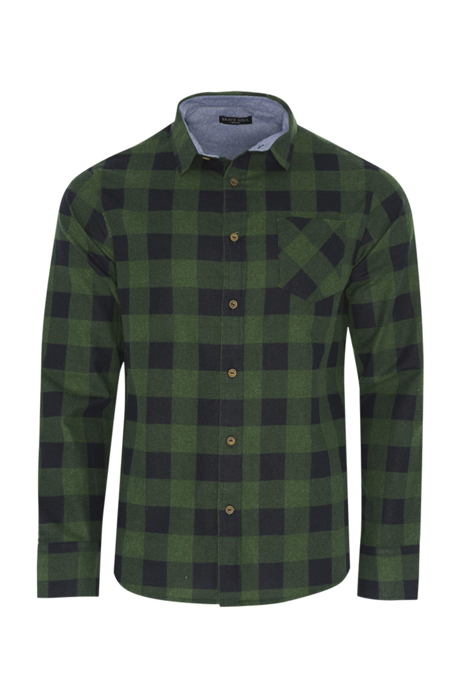 Shirts - Check Shirt Green