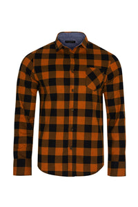 Shirts - Check Shirt Rust