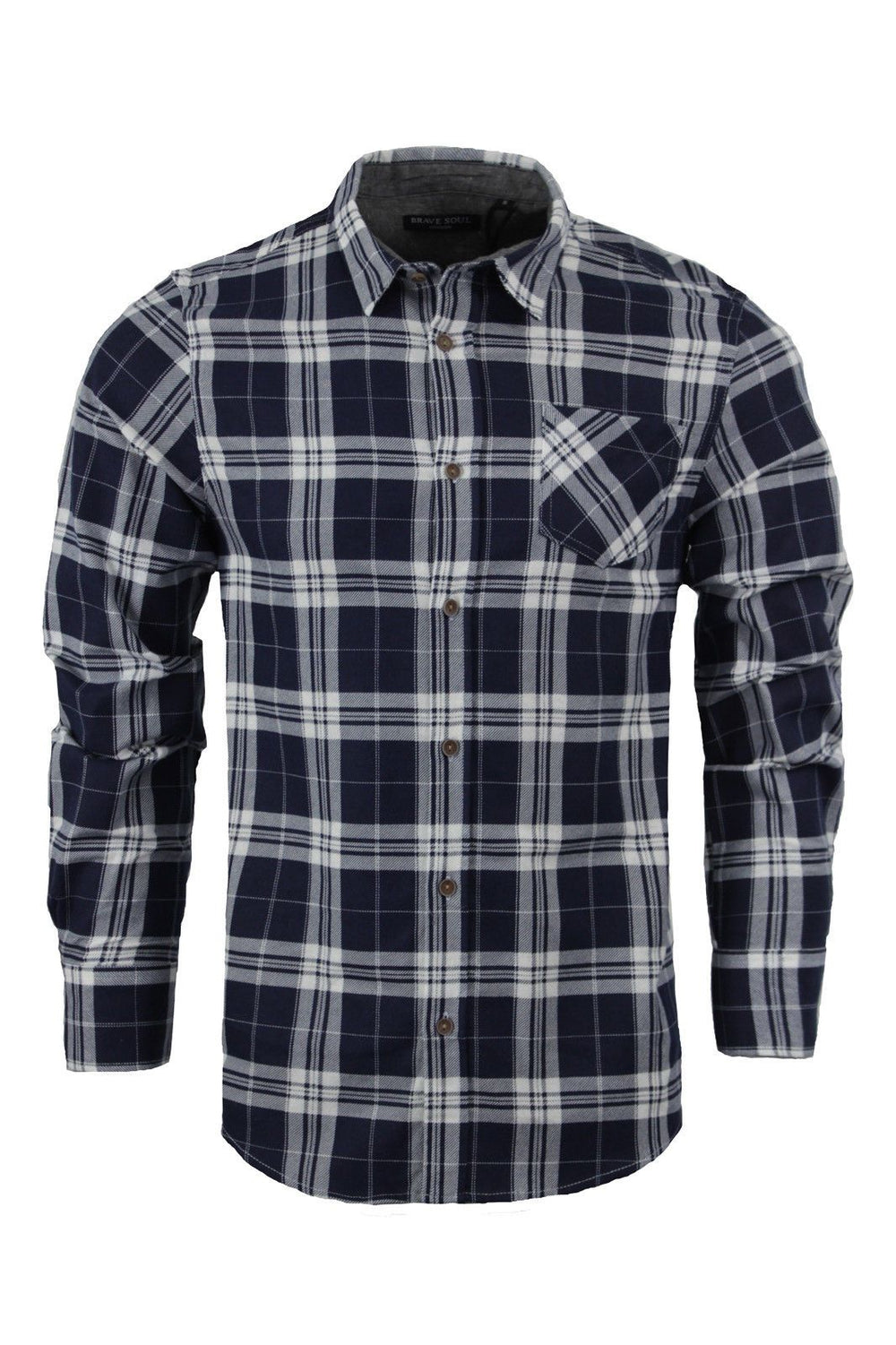 Shirts - Vince Check Shirt Navy