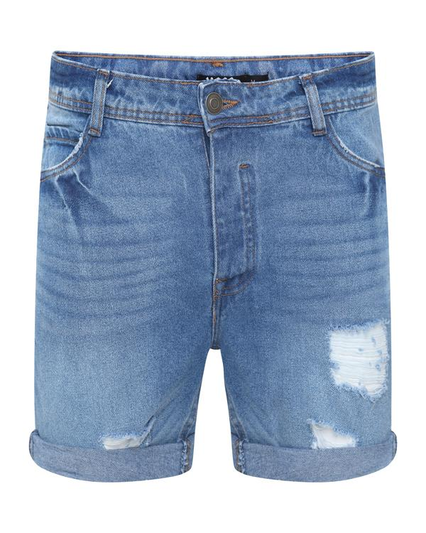 Shorts - Destroyed Denim Shorts Blue