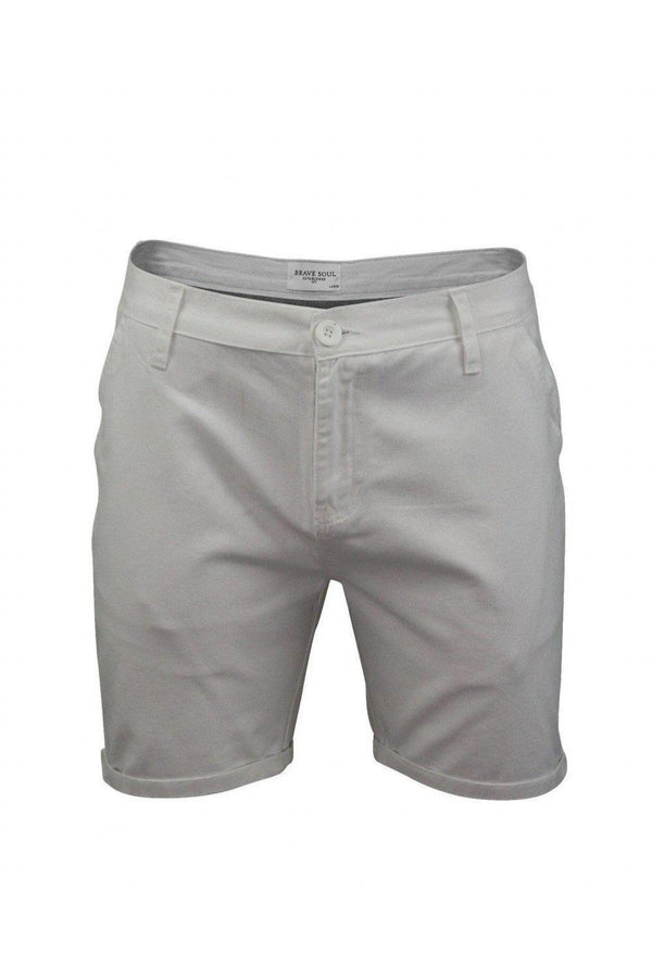 Shorts - Skinny Chino Shorts White