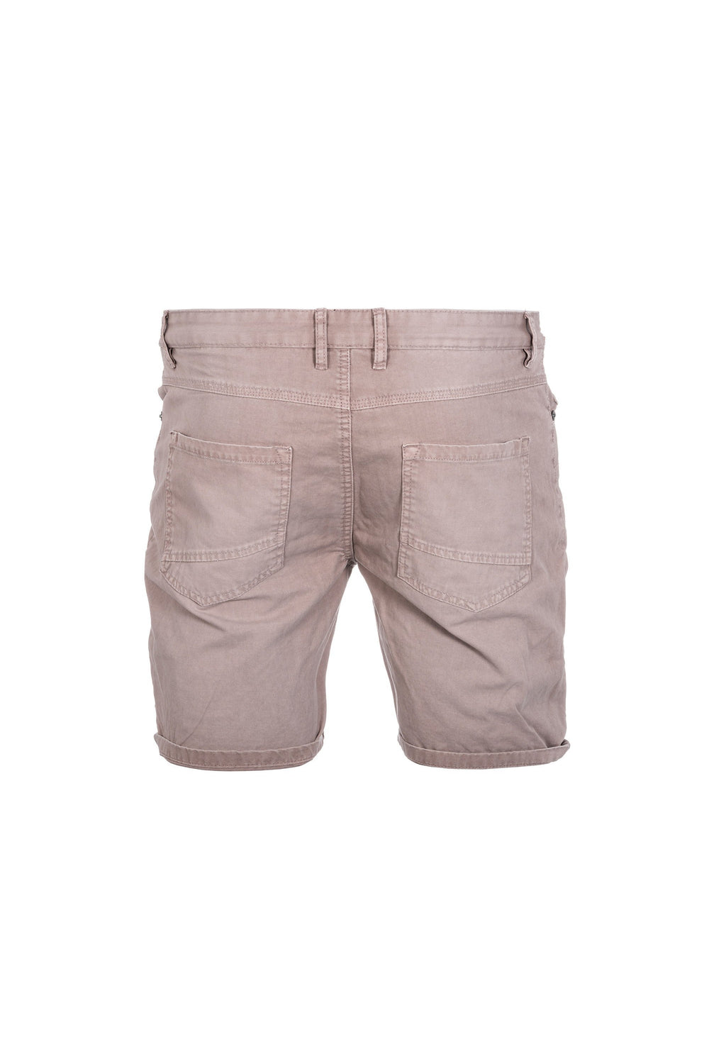 Shorts - Skinny Denim Shorts Dusty Pink