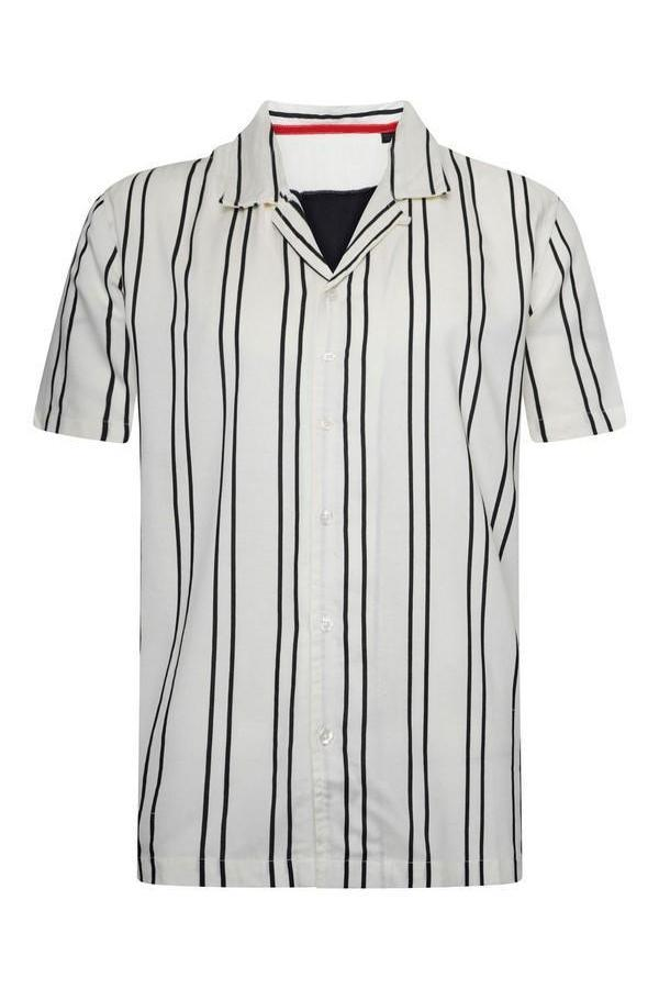 Soft Feel Classic Stripe Shirt White