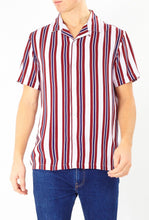 Load image into Gallery viewer, Soft Feel Vertical Stripe Shirt Burg