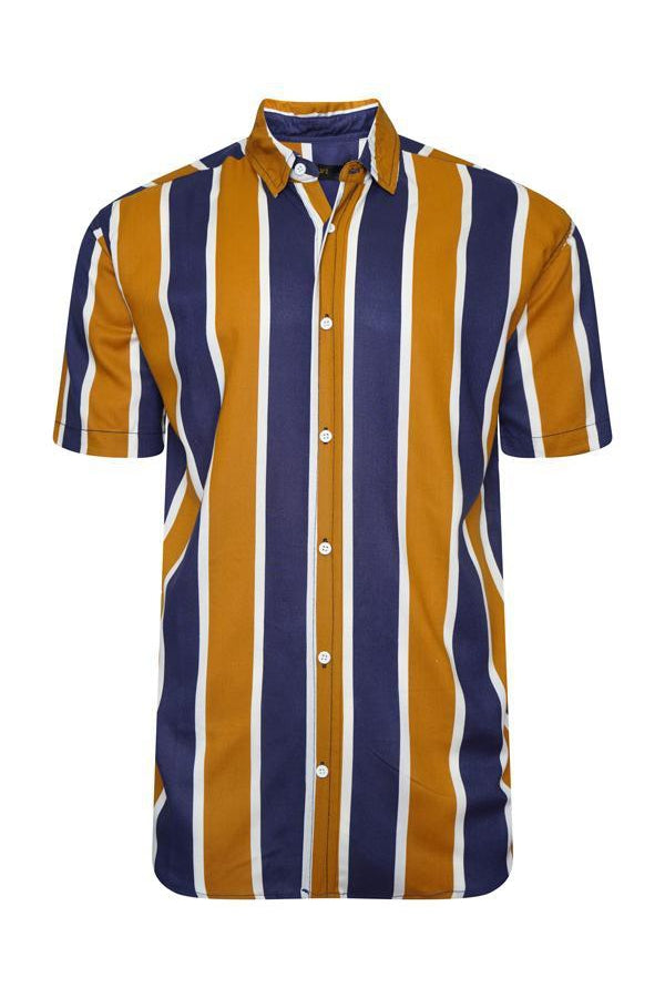 Soft Feel Vertical Stripe Shirt Orange