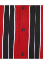 Load image into Gallery viewer, Soft Feel Vertical Stripe Shirt Red