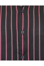 Load image into Gallery viewer, Soft Feel Vertical Stripe Shirt Thin Black