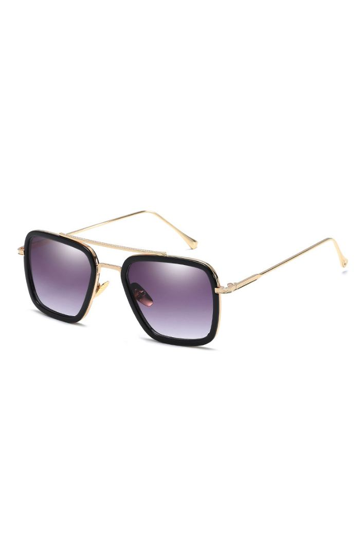 Sunglasses - Brow Bar Aviator Sunglasses Black