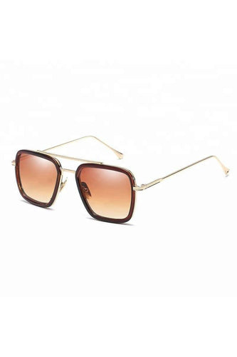 Sunglasses - Brow Bar Aviator Sunglasses Brown