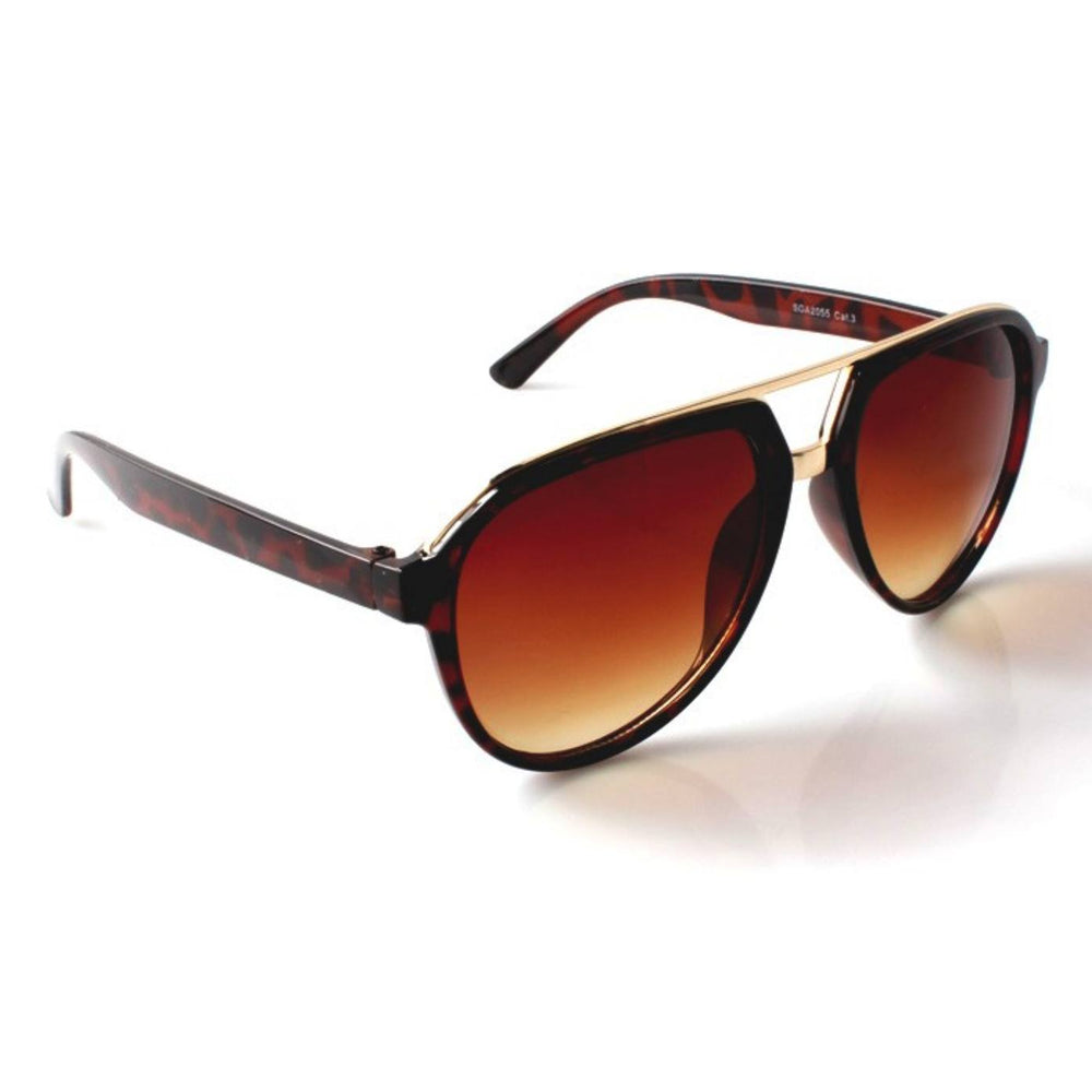 Sunglasses - Brow Bar Aviators Brown