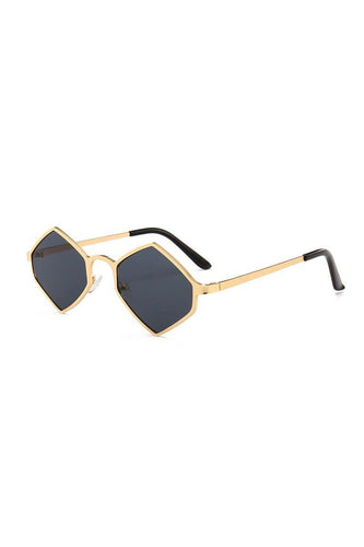 Sunglasses - Chunky Diamond Sunglasses Black