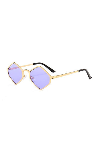 Sunglasses - Chunky Diamond Sunglasses Lilac