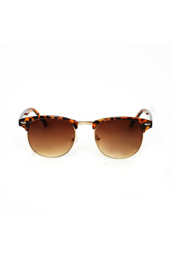 Sunglasses - Classic Wayfarer Sunglasses Tortoise Brown