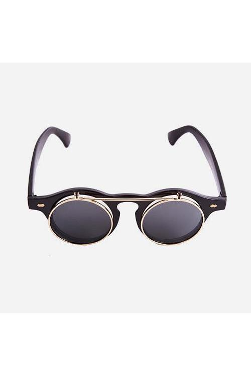Sunglasses - Flip Sunglasses Black