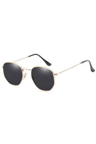 Sunglasses - Marbella Hex Sunglasses Black