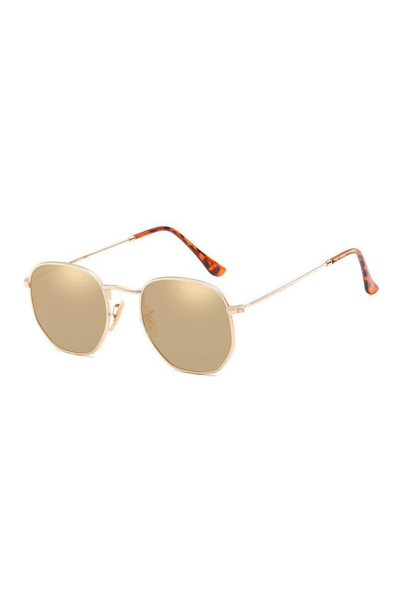 Sunglasses - Marbella Hex Sunglasses Brown
