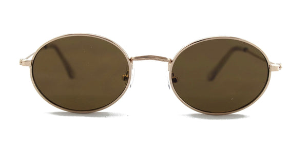 Sunglasses - Round Minimal Sunglasses Brown